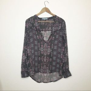 Maurices Sheer Boho Oversized L Long Sleeve Top